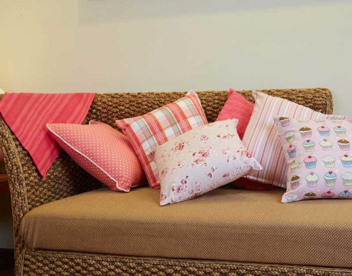 100% cotton cushion